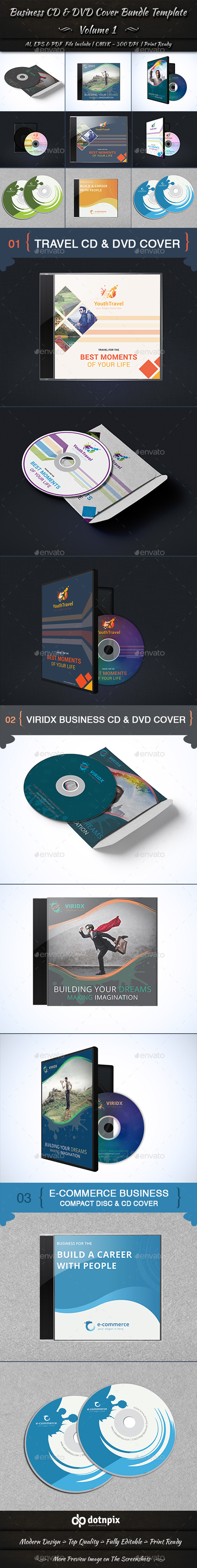 GraphicRiver Business CD & DVD Cover Bundle Template Volume 1 10822569
