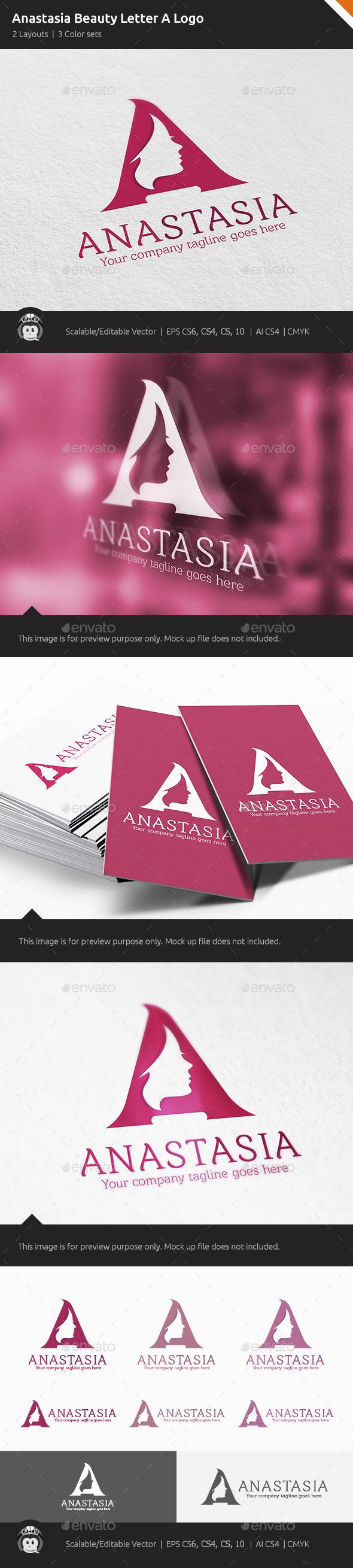 GraphicRiver Anastasia Woman Letter A Logo 10822584