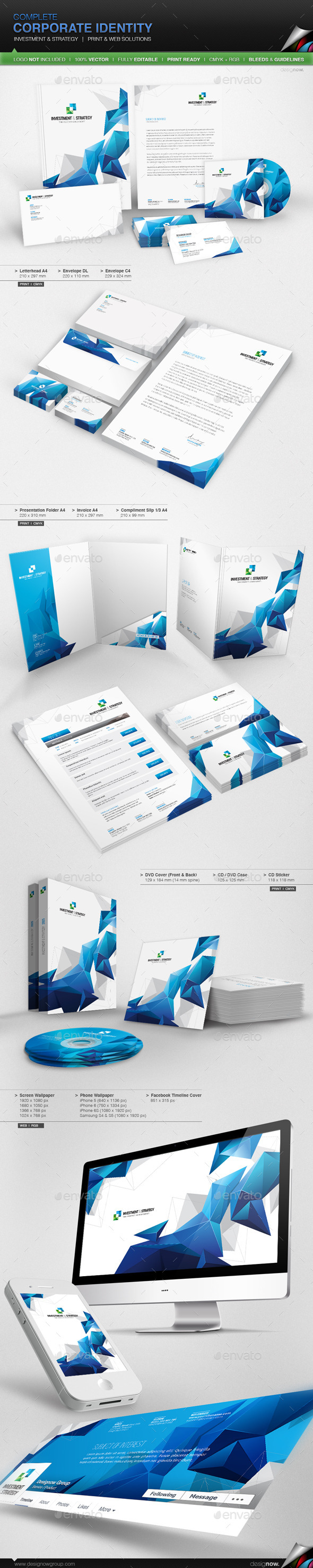 GraphicRiver Corporate Identity Investment And Strategy 10822634