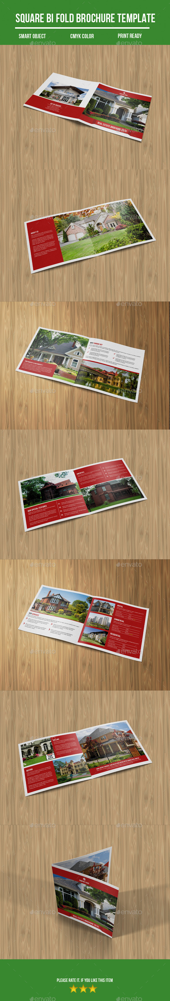 GraphicRiver Square Bi-Fold Real Estate Brochure 10822651