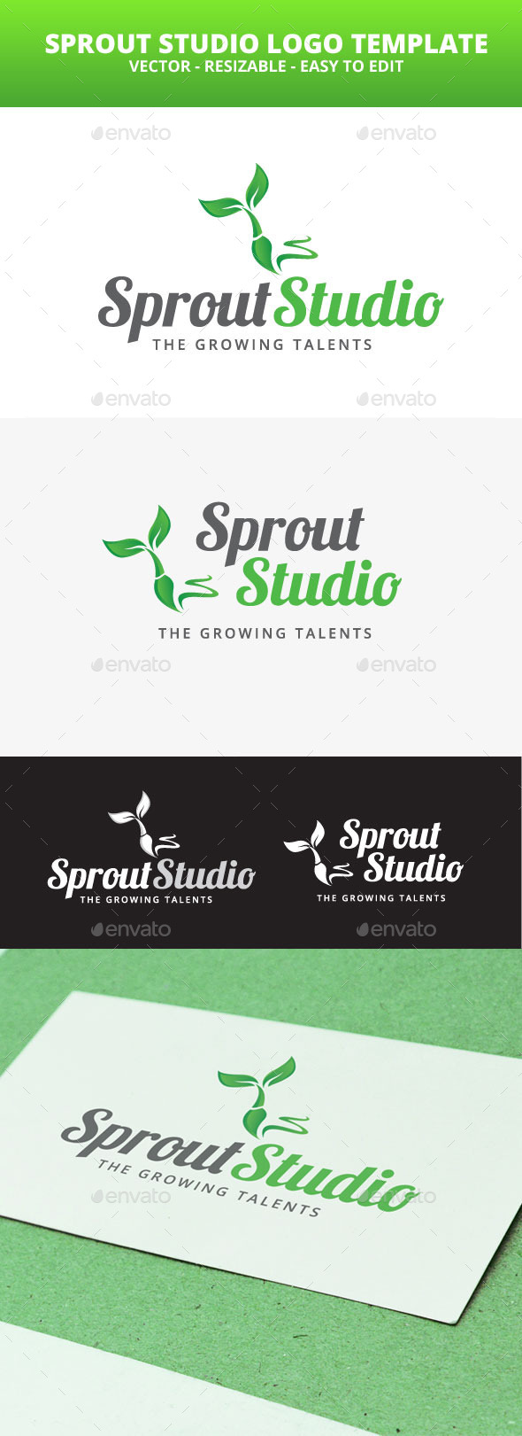 GraphicRiver Sprout Studio Logo Template 10821890