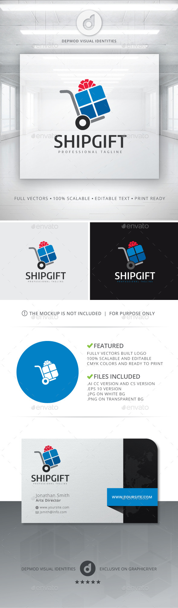 GraphicRiver Ship Gift Logo 10822945