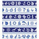 Borders with Nautical and Sea Symbols - GraphicRiver Item for Sale