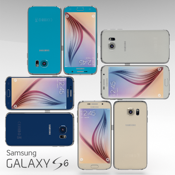 3DOcean Samsung Galaxy S6 All Color Pack 10823169