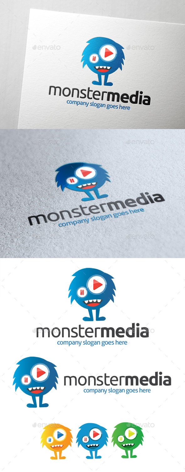 GraphicRiver Monster Media Logo 10823166