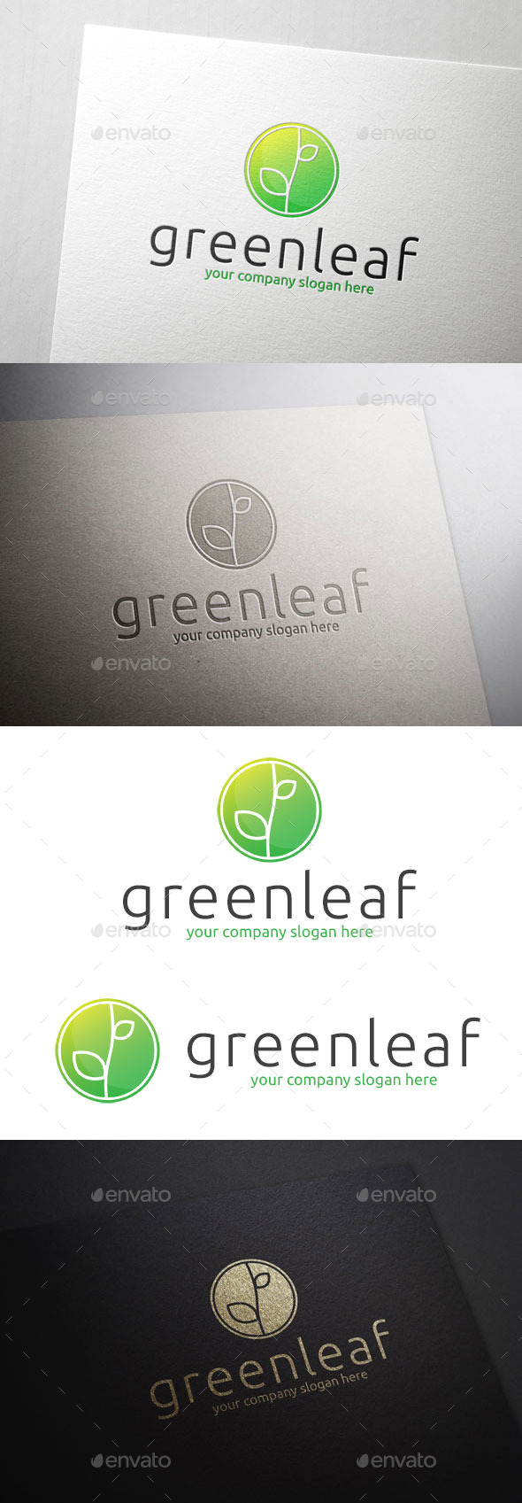 GraphicRiver Green Leaf Logo 10823234