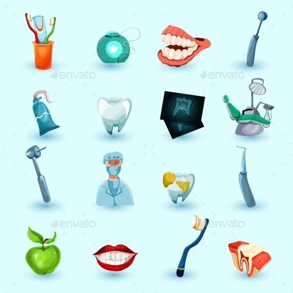 GraphicRiver Stomatology Icons Set 10823238
