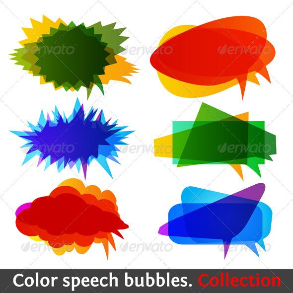 GraphicRiver Color speech bubbles collection eps10 134785