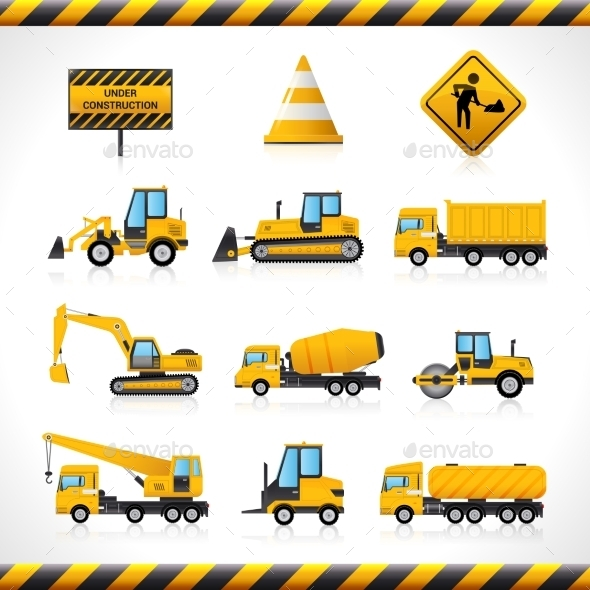 GraphicRiver Construction Machines Set 10823350