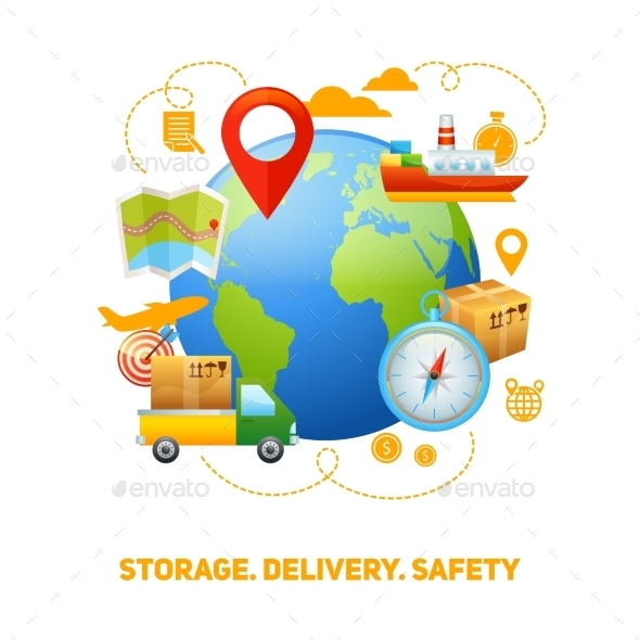 GraphicRiver Logistic Global Concept Design 10823580