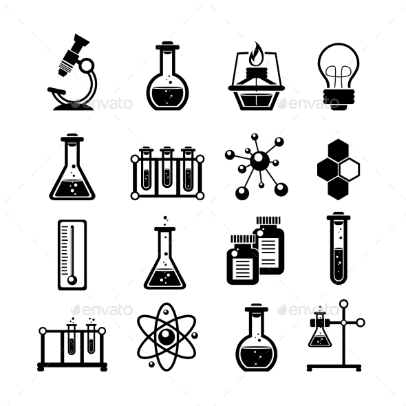 GraphicRiver Chemistry Icons Set 10823583