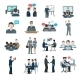 Conference Icons Flat - GraphicRiver Item for Sale