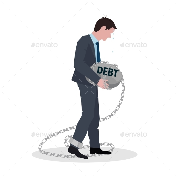 GraphicRiver Business Debt Concept 10823616