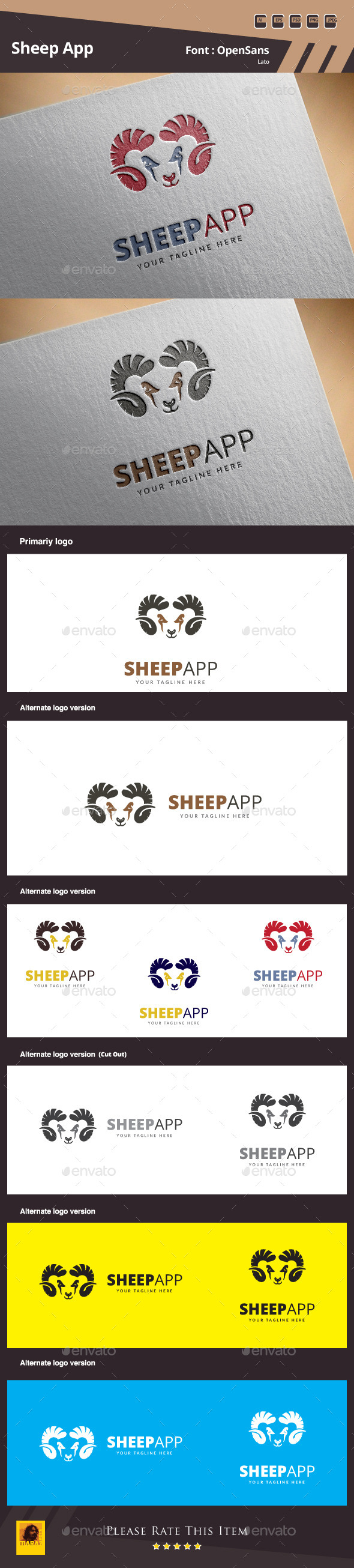 GraphicRiver Sheep App Logo Template 10823621