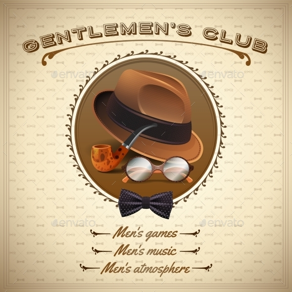 GraphicRiver Vintage Gentlemen Poster 10823629
