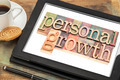 personal growth typography on tablet - PhotoDune Item for Sale