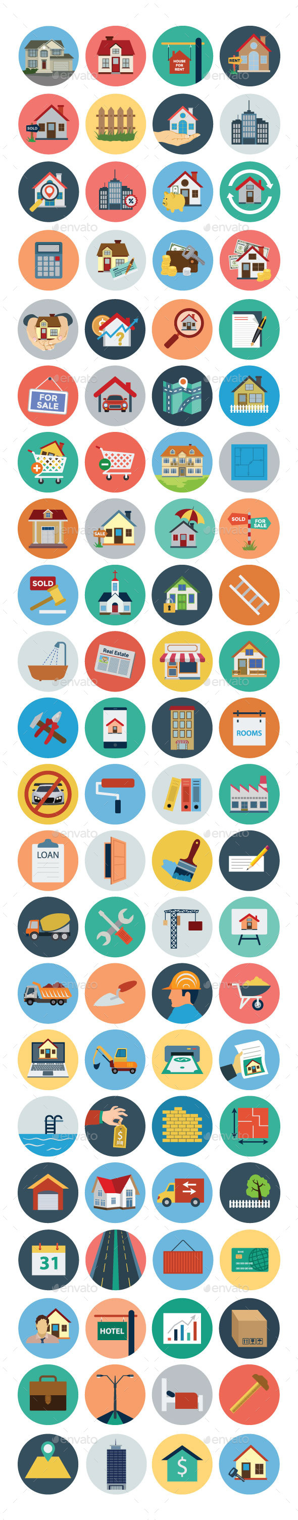 GraphicRiver 80& Real Estate Flat Icons 10823840
