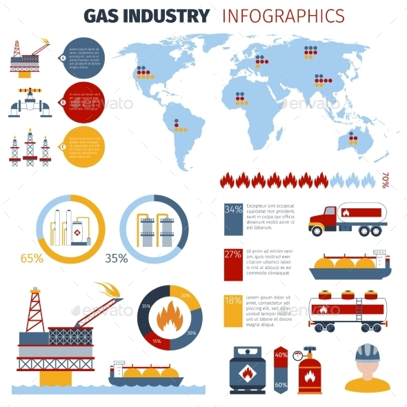 GraphicRiver Gas Infographics Set 10824133