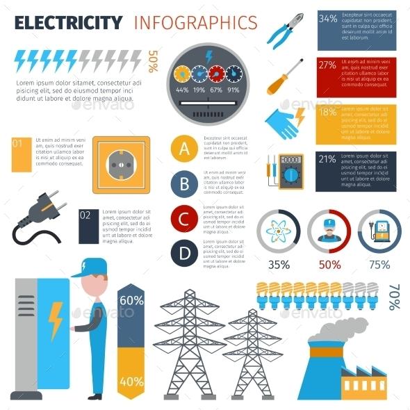 GraphicRiver Electricity Infographics Set 10824138