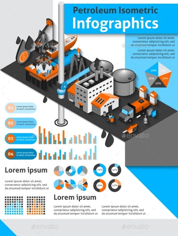 GraphicRiver Petroleum Isometric Infographics 10824231