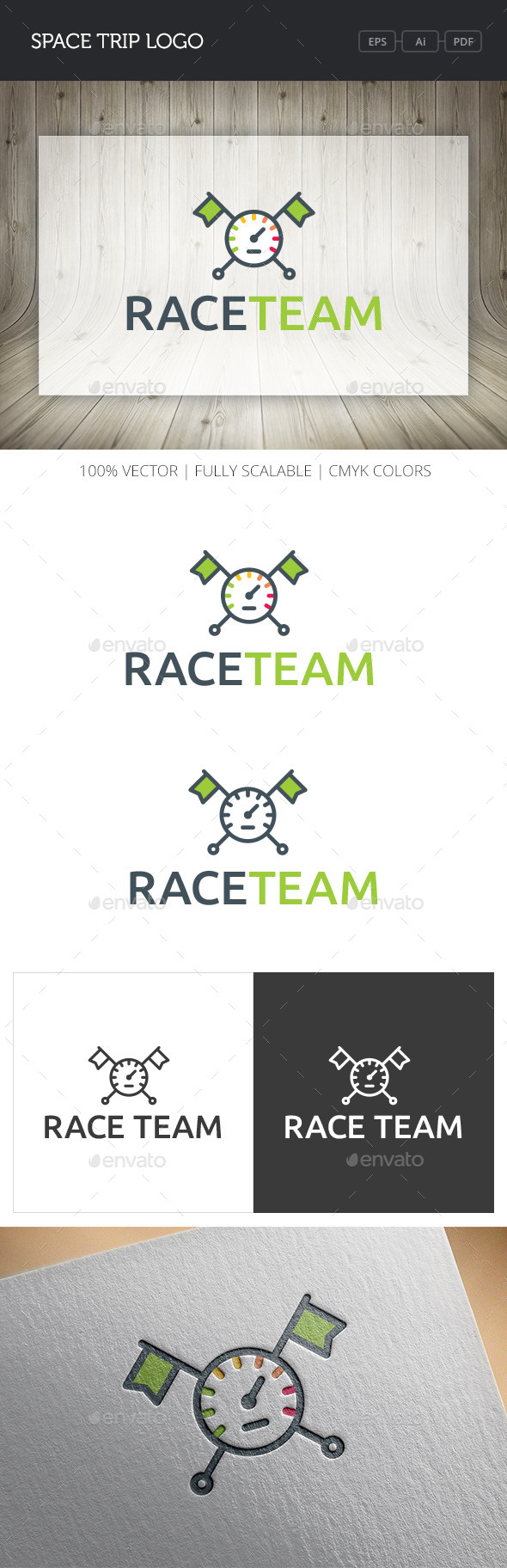 GraphicRiver Race Team Logo 10824380