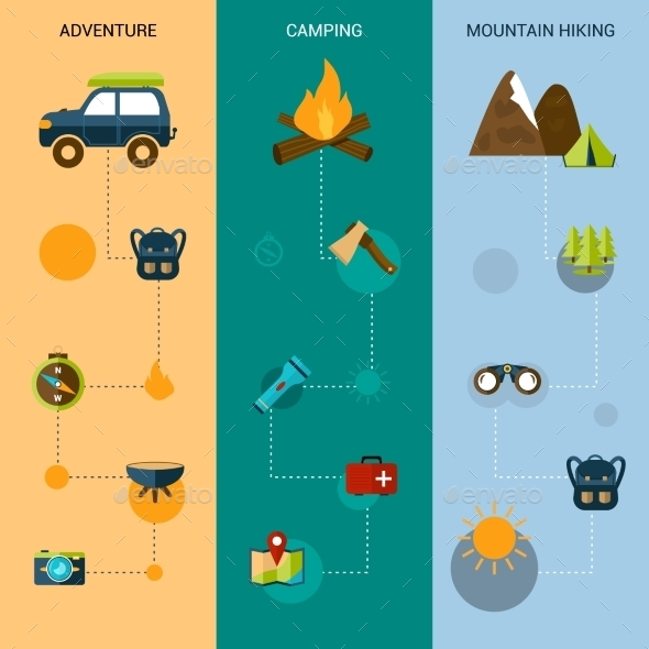 GraphicRiver Vertical Camping Banners 10824419