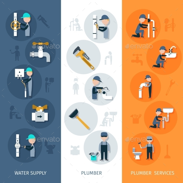 GraphicRiver Plumber Vertical Banner 10824632