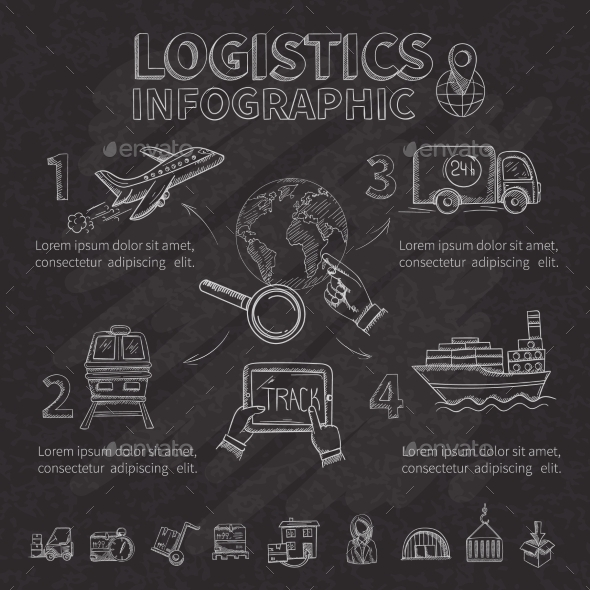GraphicRiver Logistic Infographic Set 10826038