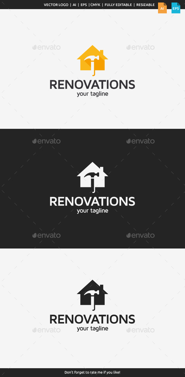 GraphicRiver Home Renovations Logo Template 10826059
