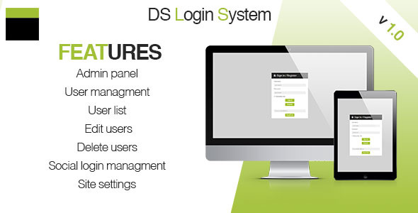 CodeCanyon DS Login System 10826061