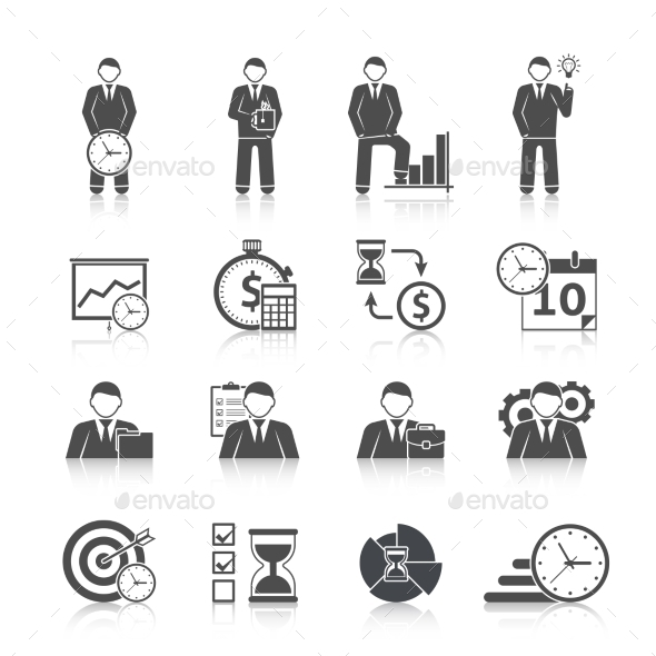 GraphicRiver Time Management Icons Set 10826064