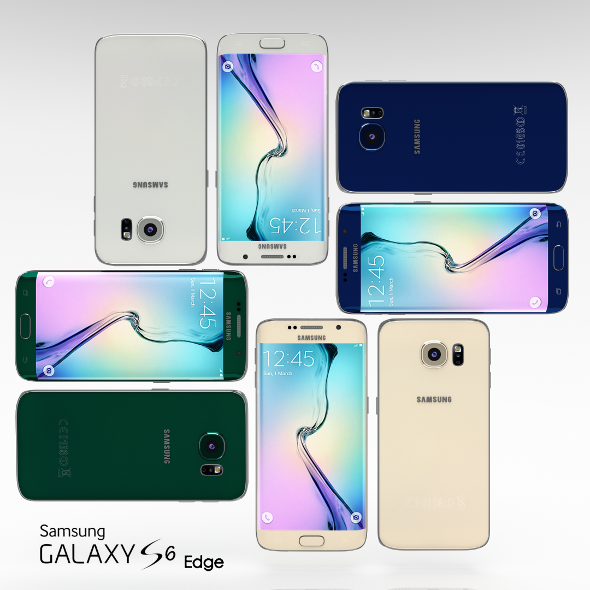 3DOcean Samsung Galaxy S6 Edge All Color Pack 10826121