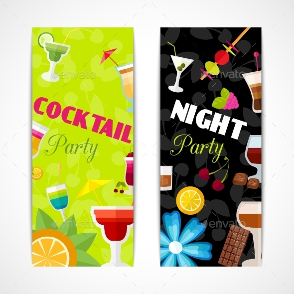 GraphicRiver Cocktails Banner Set 10826147