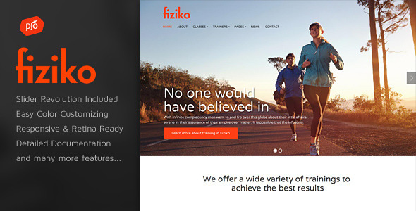 ThemeForest Fiziko Gym & Fitness Template 10826154