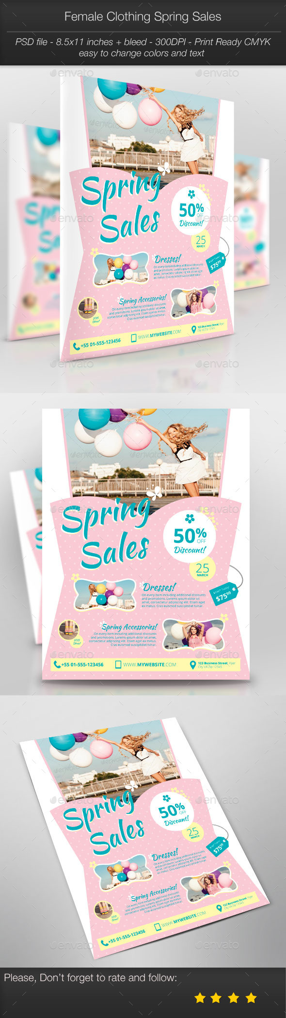 GraphicRiver Business Promotion Female Clothing Spring Sales 10826254