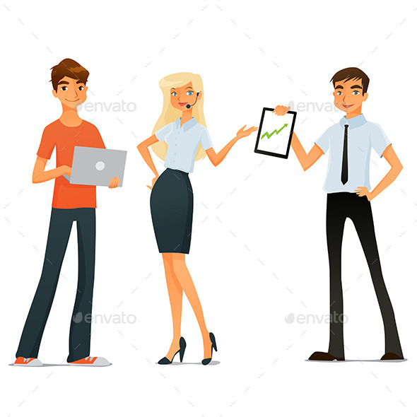 GraphicRiver People Start a Business 10826310