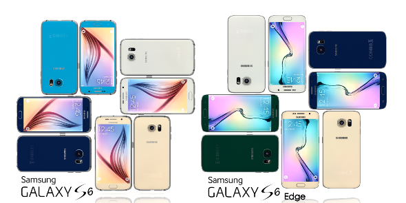 3DOcean Samsung Galaxy S6 and S6 Edge All Color Pack 10826436