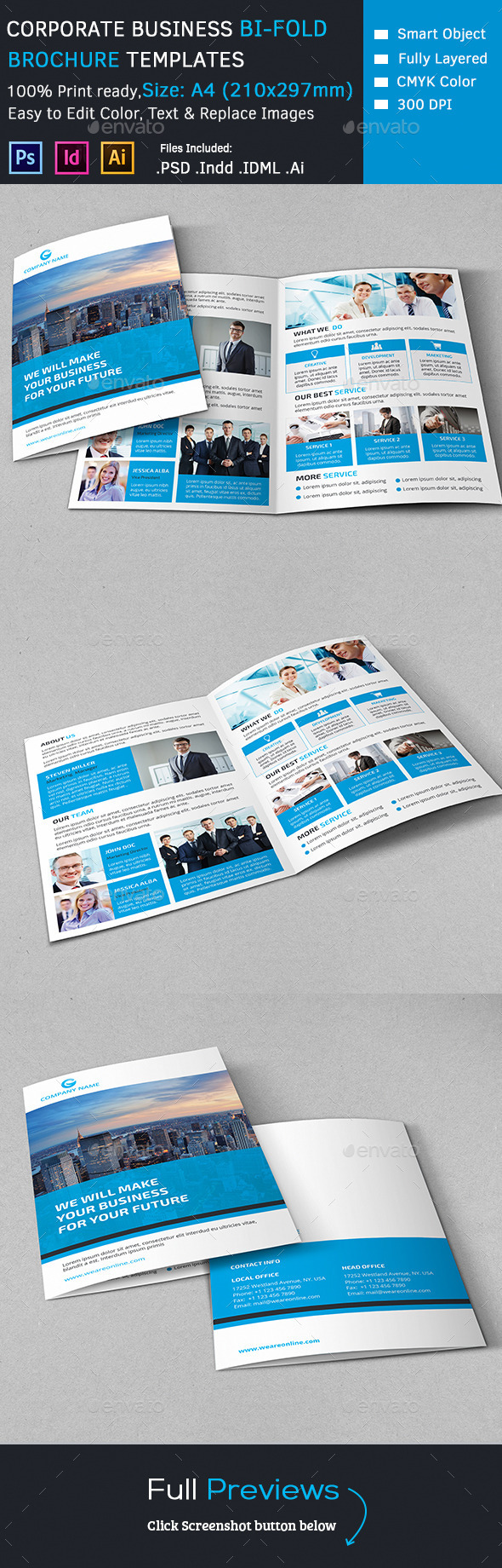 GraphicRiver Corporate Marketing Bi-Fold Brochure 10826819