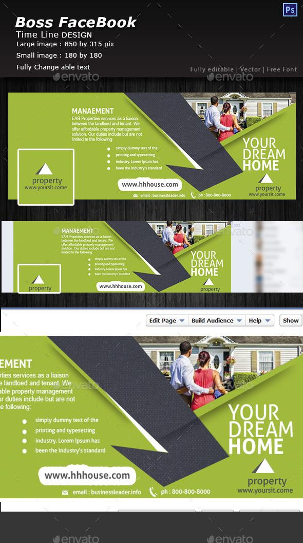 GraphicRiver Real Estate Facebook time line 10827082