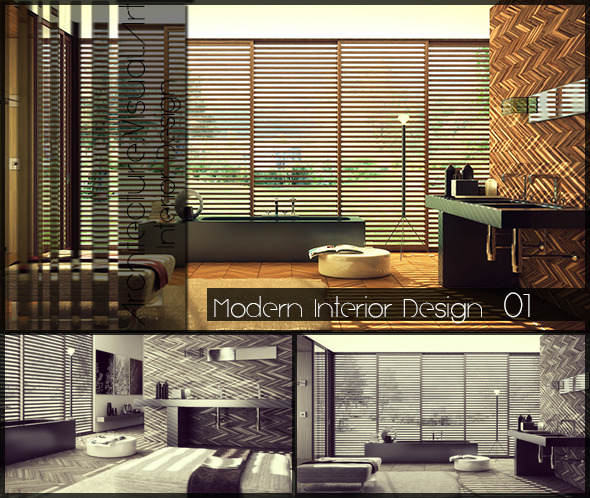 3DOcean Bathroom Interior Design 10827126