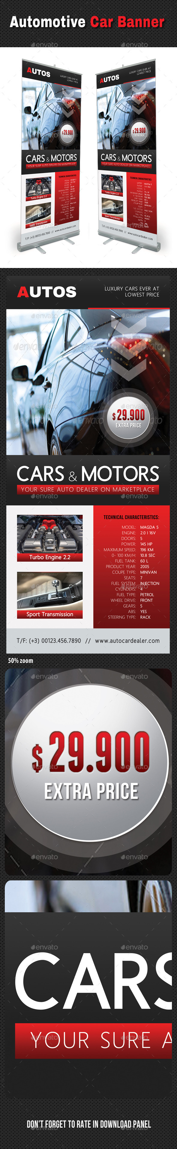 GraphicRiver Automotive Car Banner Template V02 10827134