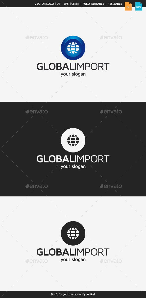 GraphicRiver Global Import Logo Template 10827137