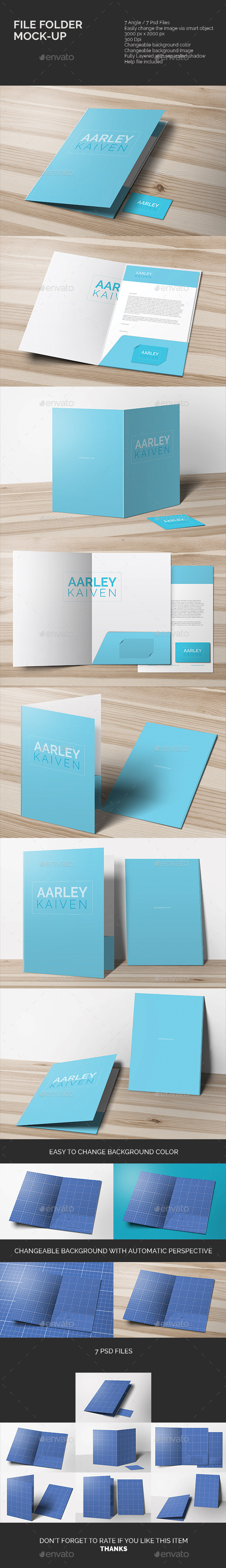 GraphicRiver File Folder Mock-up 10827248