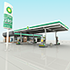 BP Gas Station RenderReady - 3DOcean Item for Sale