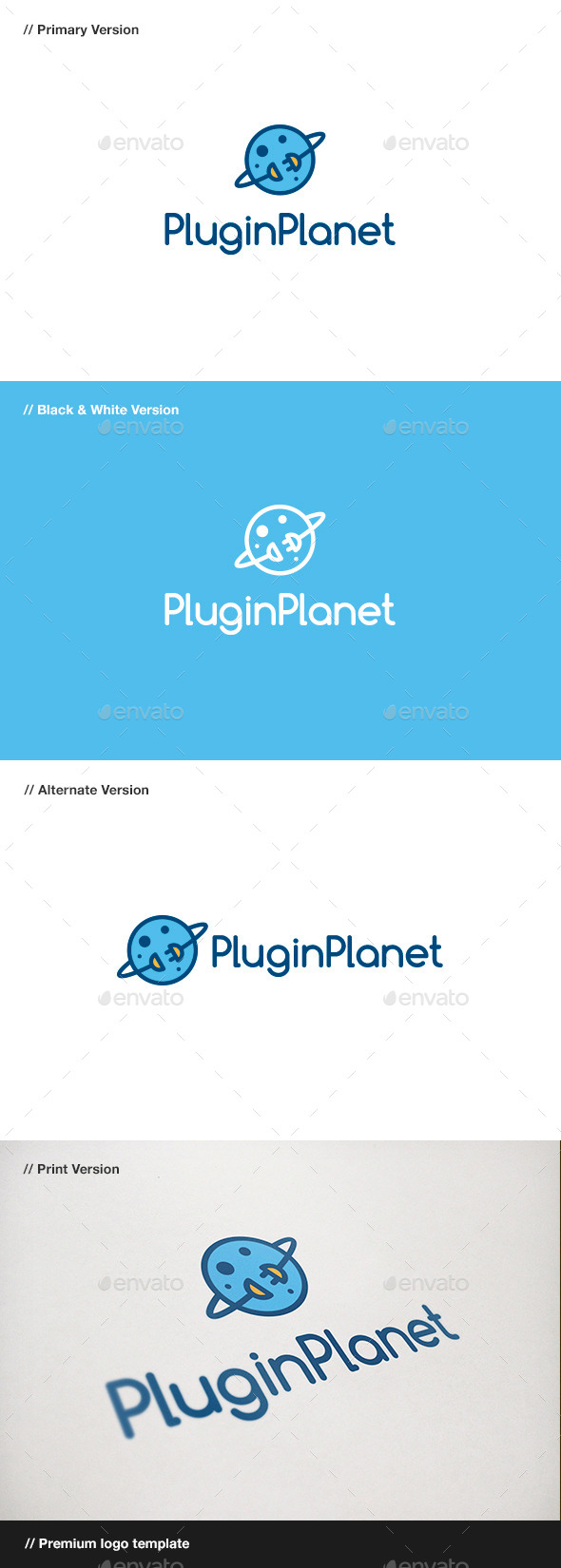 GraphicRiver Plugin Planet Logo 10827798