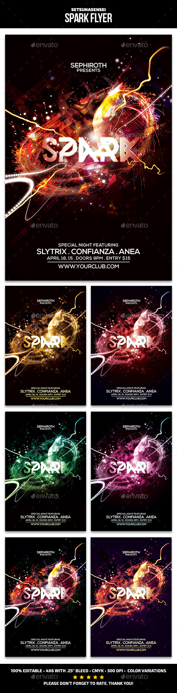 GraphicRiver Spark Flyer 10827855