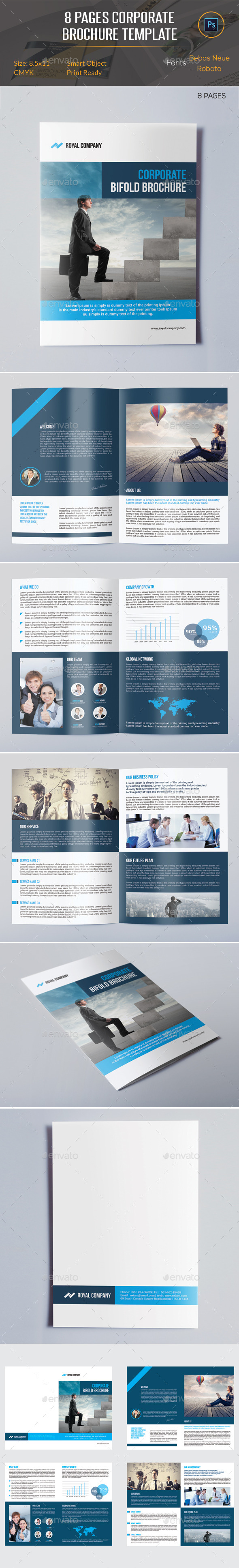 GraphicRiver 8 Pages Brochure Template 10827893