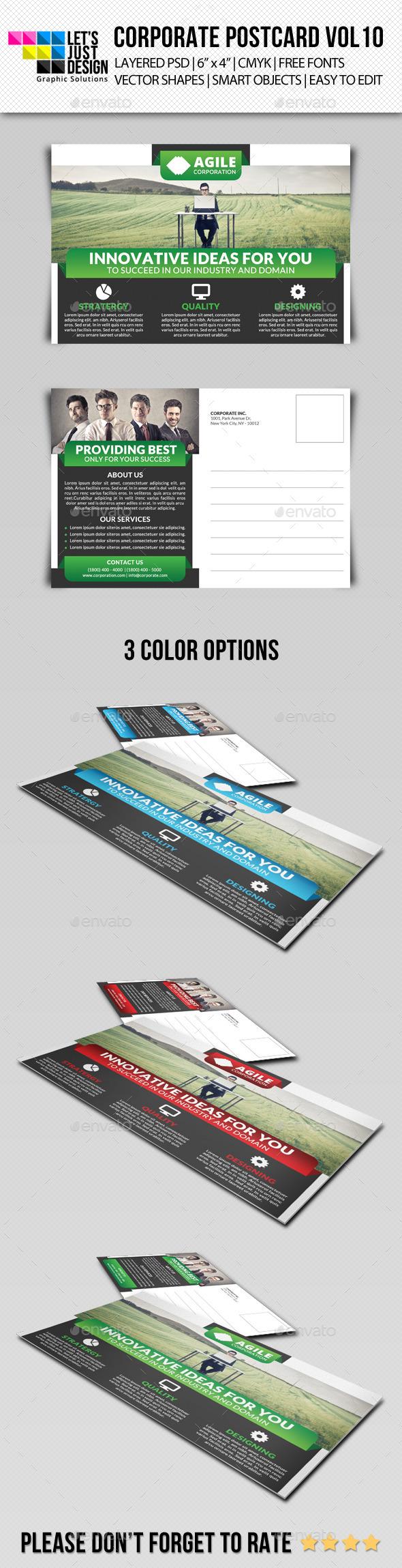 GraphicRiver Corporate Postcard Template Vol 10 10827929
