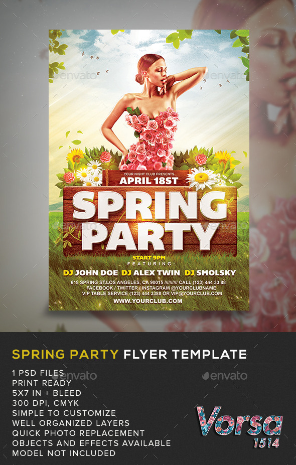 GraphicRiver Spring Party Flyer Template 10827935