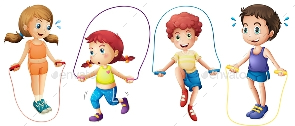 GraphicRiver Children and Jumprope 10827971